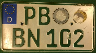 GERMANY, PADERBORN 2000's---SMALL AGRICULTURAL TRACTOR PLATE | by woody1778a