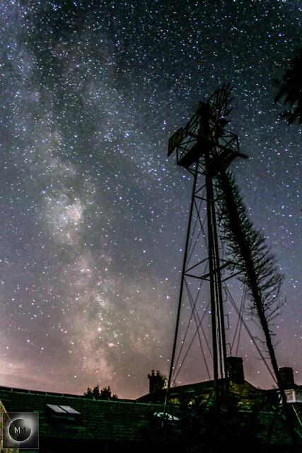 Milky Way with Wind Turbine (reprocess) 04/08/18