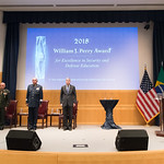 Thu, 09/20/2018 - 14:05 - On Thursday, September 20, 2018, the William J. Perry Center for Hemispheric Defense Studies honored General Salvador Cienfuegos Zepeda, Secretary of National Defense of Mexico, and Escola Superior de Guerra (ESG), National War College of Brazil, with the 2018 William J. Perry Award for Excellence in Security and Defense Education. Named after the Center's founder, former U.S. Secretary of Defense Dr. William J. Perry, the Perry Award is presented annually to individuals who and institutions that have made significant contributions in the fields of security and defense education. From the many nominations received, awardees are selected for achievements in promoting education, research, and knowledge-sharing in defense and security issues in the Western Hemisphere. Awardees' contributions to their respective fields further democratic security and defense in the Americas and, in so doing, embody the highest ideals of the Center and the values embodied by the Perry Award.
