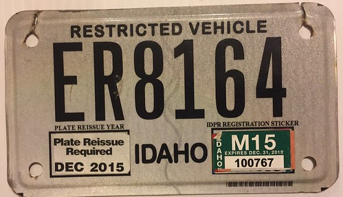 IDAHO 2015---ER---UTILITY TYPE VEHICLE PLATE | by woody1778a