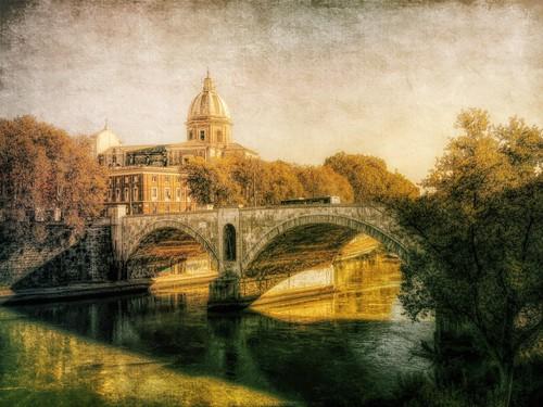 rome bridge hdr