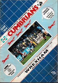 Carlisle United V Wrexham 7-10-89 | by cumbriangroundhopper
