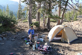 2690 Our tent and campsite on the east side of Susie Lake - looks like dinner is ready! | by _JFR_