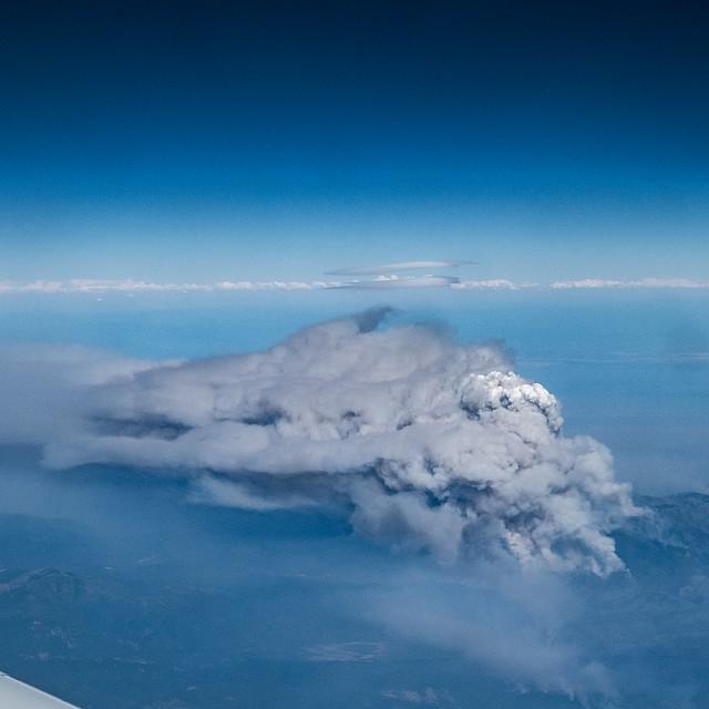Mendocino Complex Fire Pyrocumulus cloud facing North-East