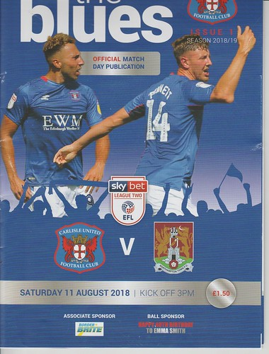 Carlisle United V Northampton Town 11-8-18 | by cumbriangroundhopper