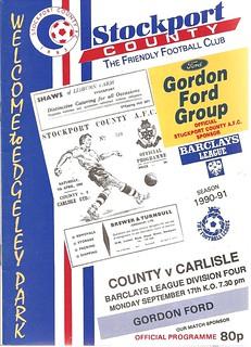 Stockport County V Carlisle United 17-9-90 | by cumbriangroundhopper