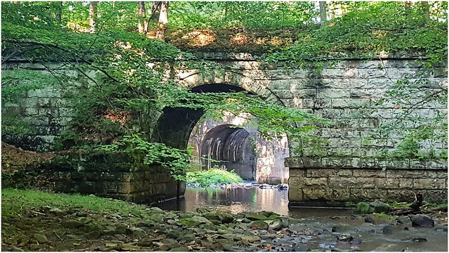 Double arches on the Allegheny Valley River Trail & North Country (NCT)