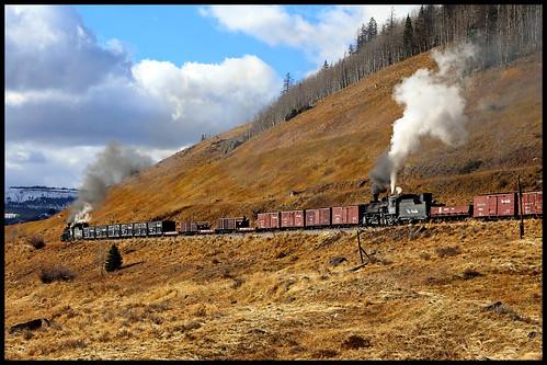 drgw denver rio grande western baldwin k36 steam 282 narrow gauge cts cumbres toltec scenic railroad tanglefoot curve co colorado