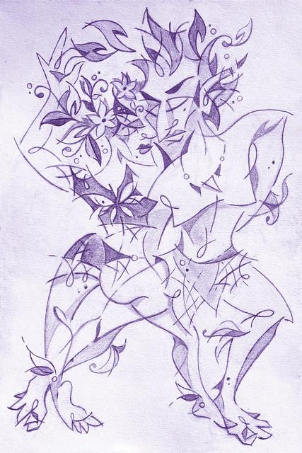 Noche de fuego - Art Dance Illustration