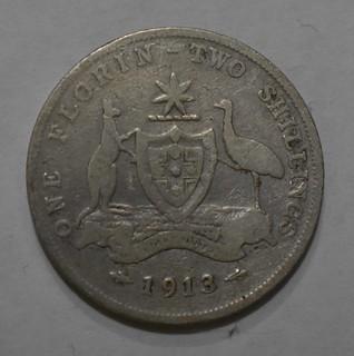 1913 Australia One Florin