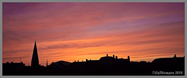 Sunset over Noerrebro