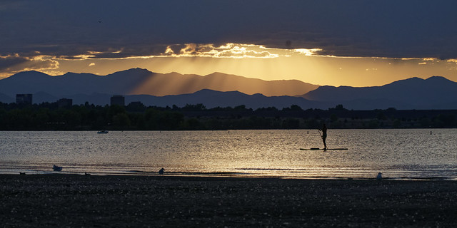 Paddleboarding Before Sunset