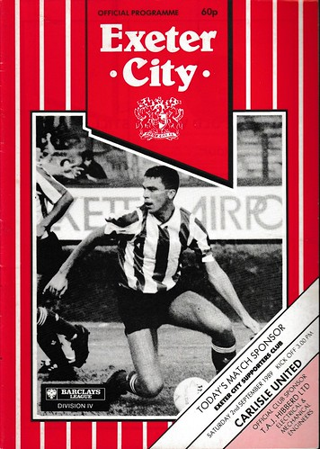 Exeter City V Carlisle United 2-9-89 | by cumbriangroundhopper