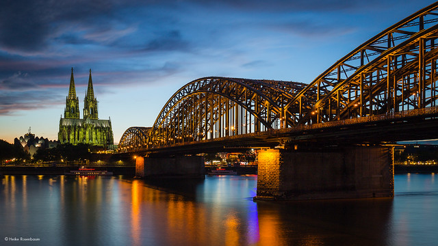 Cologne Cathedral during the blue hour