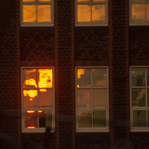 canada mileend 2018 summer sun montreal sunset epl5 windows reflection architecture urban