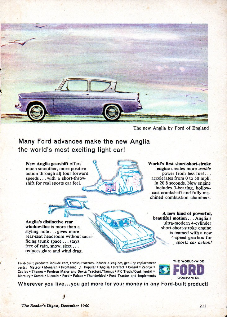 1960 World Wide Ford companies Anglia By Ford Of England P