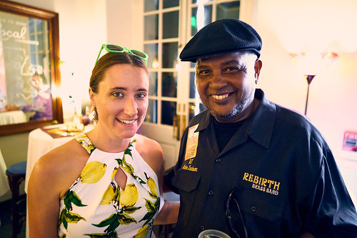 Carrie Booher and Action Jackson at the WWOZ Groove Gala on Sep. 6, 2018. Photo by Eli Mergel.