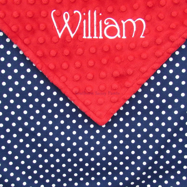 Red, White, and Blue Baby Blanket
