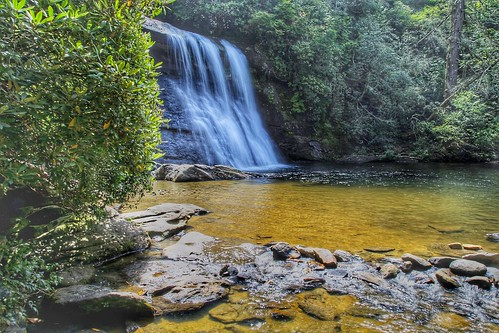 pool hike valley sapphire highlands northcarolina cashiers landscaè scenic natural nature cascada water waterfall