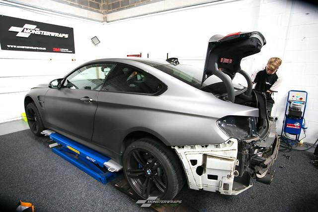 BMW M4 Wasabi Green matte wrap