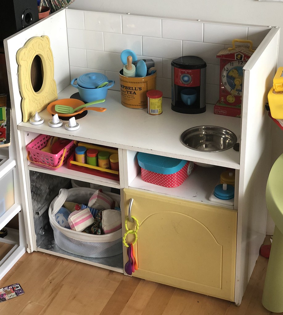 Read How A Homemade Upcycled Play Kitchen Has Withstood Si