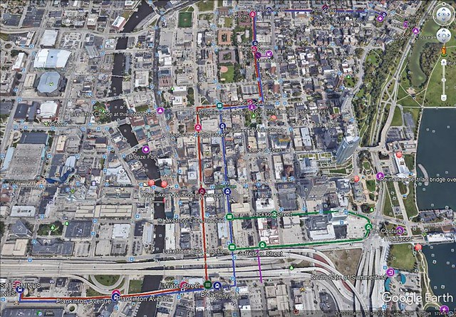 MKE Streetcar--The Hop: Map and Google Earth Information ...