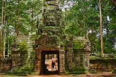 West entrance of Ta Som in Angkor Archeological Park near Siem Reap, Cambodia