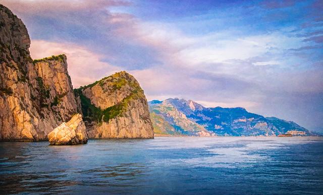 Rugged Amalfi Coast - Textured