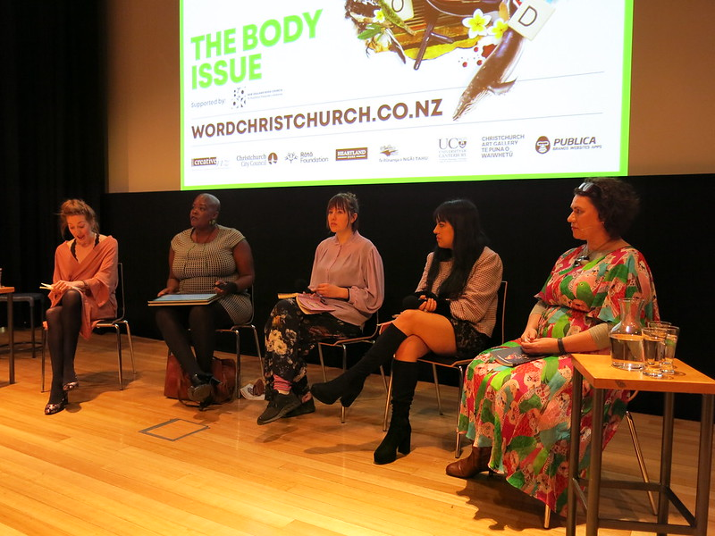 The panel at The Body Issue: WORD Christchurch Festival 2018