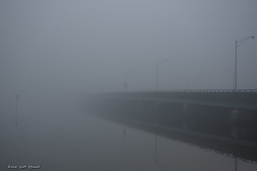 365the2018edition 3652018 day255365 12sep18 weather fog moody mood bridge mathisbridge barnegatbay water reflection span seaside bay seasideheights clouds atmosphere scottnj scottodonnellphotography 365project foggy foggymorning tomsriver nj windsorpark