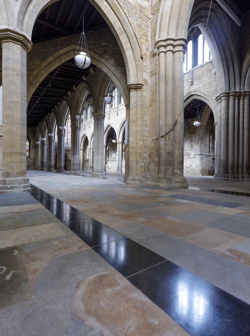 St Mary's church, Melton Mowbray - new flooring