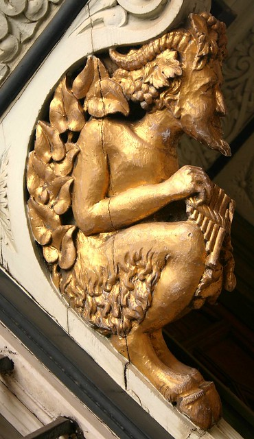 Satyr lodged in a wall, Blenheim Palace, near Oxford