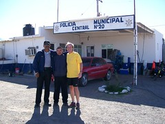 With Armando in front of police station camping place