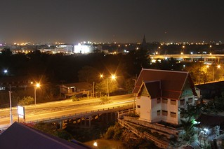 A night view from my hotel in Ayutthaya (2007-02-055) | by Argenberg