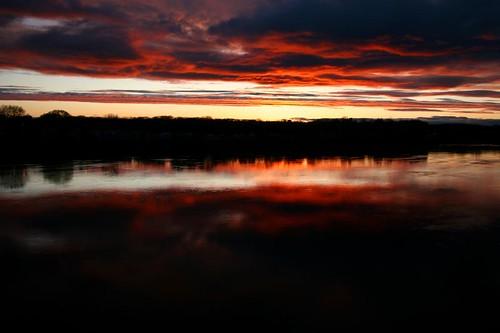 sunset clouds river fire massachusetts connecticutriver anawesomeshot diamondclassphotographer tribeofbeautyfreedompeace