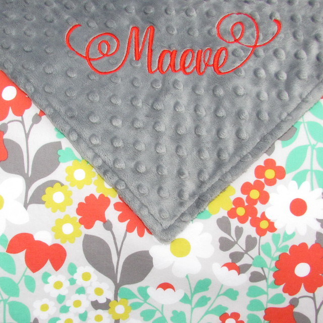 Woodland Floral Baby Blanket