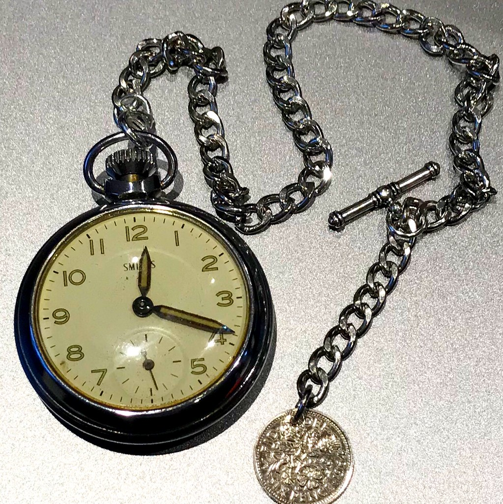 Smiths pocket watch and chain