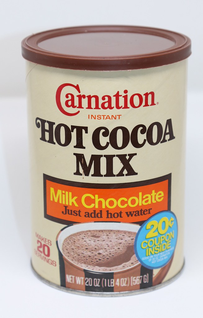 Carnation Hot Cocoa Mix Can 1980s Sealed Kerry Flickr
