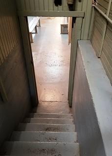 IN, Knightstown-Hoosier Gym Stairway to Hickory Locker Room