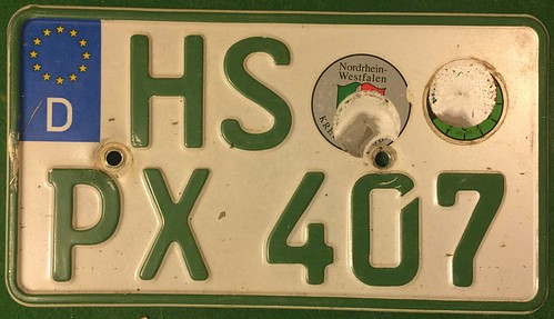GERMANY, HEWSBURG 2000's---SMALL AGRICULTURAL TRACTOR PLATE | by woody1778a