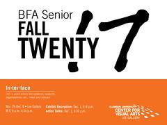 2017 Fall BFA Exhibit