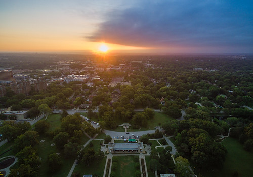 arial dji drone firstlight kansascity kevinvanemburghphotography loosepark rosegarden sunrise missouri unitedstates us september9 rosegardensunrise clouds cloudysky
