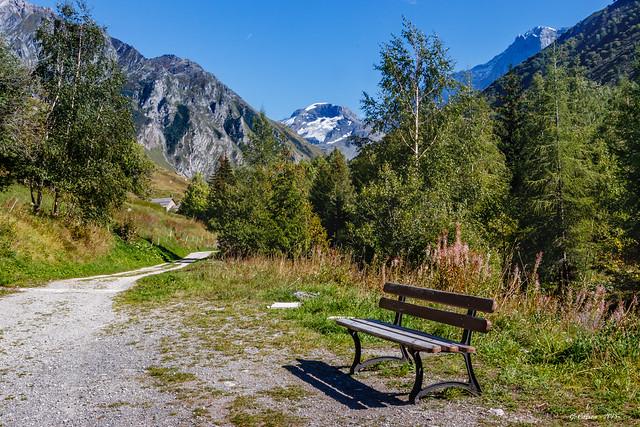 Repos devant  la Grande Motte et ses 3 653 m d'altitude. (Savoie 09/2018)