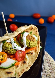 178 - Fried Onion Falafel with Artichokes Recipe   by Onlinefoodblog