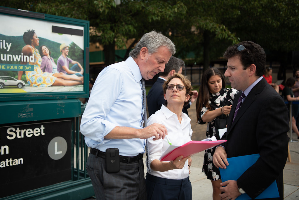 L train shutdown mitigation plan | Mayor Bill de Blasio and