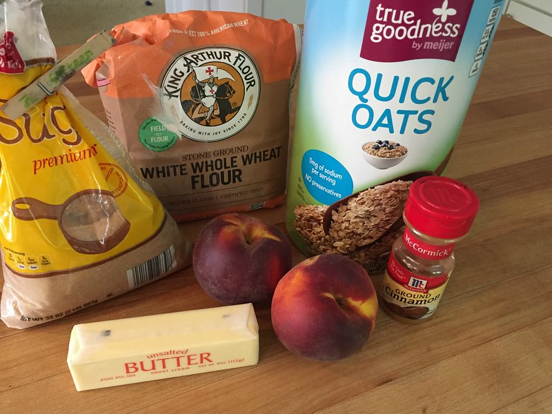 ingredients for peach crisp