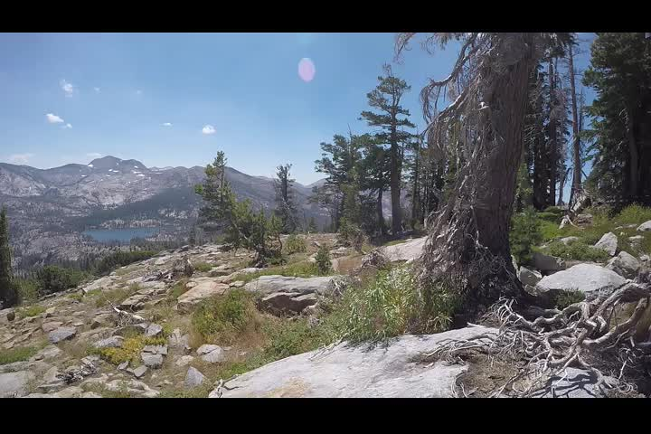 1216 GoPro panorama video from the Tahoe-Yosemite Trail south of Phipps Peak
