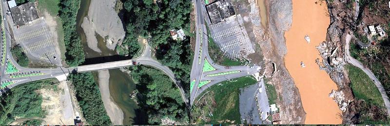 Puente Ciales PR145 antes y ahora