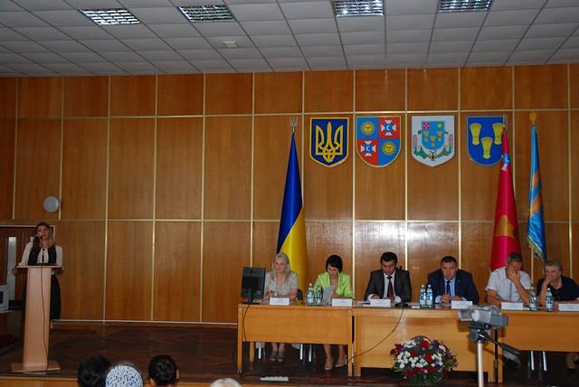 Лариса Білозір на освітній конференції у Тульчині