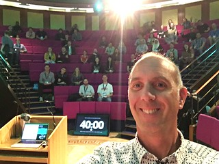Me, about to lecture in the Royal Institution | by clagnut